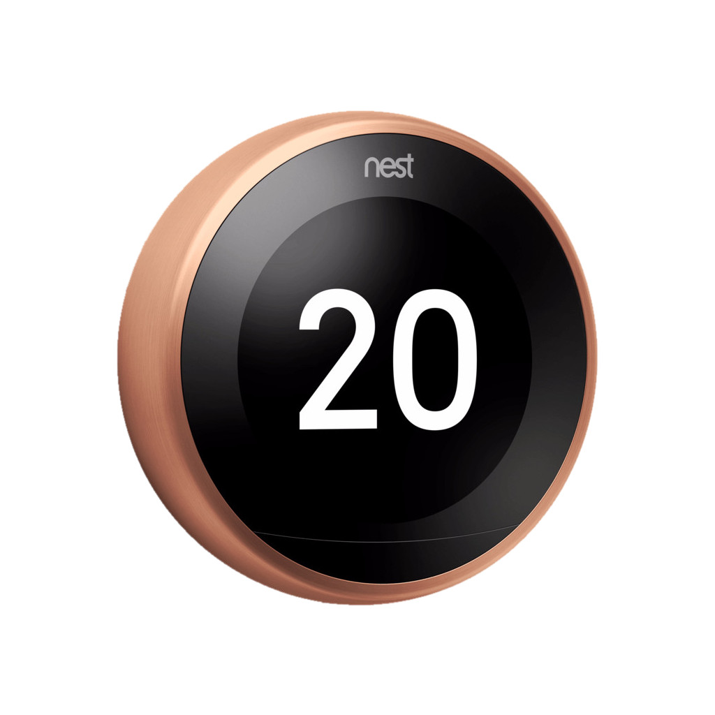 Google Nest Learning Thermostat V3 Premium Koper